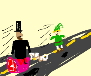 Small Lincoln doesn't get link riding hamw/bra