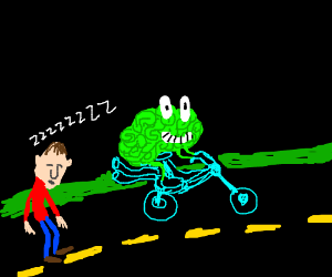 Green brain prefers the highway to drousy man.
