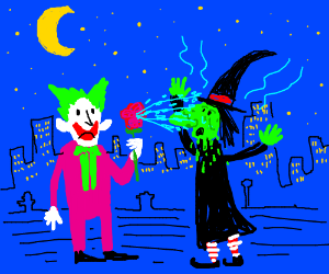 Joker and witch awkward first date