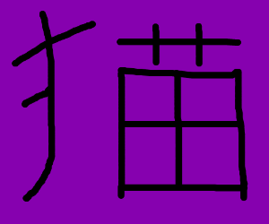 Chinese text, one is 苗