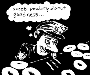 Sheriff hooked on donuts