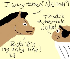 Horse versus Troublemuffin!!!