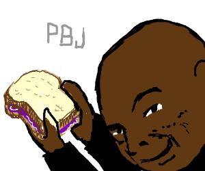Seal makes a PB&J sandwich