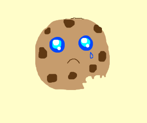 crying cookie