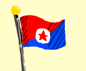 Red Blue Flag W Star In White Circle