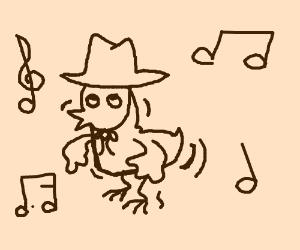 western chicken doing the chicken dance
