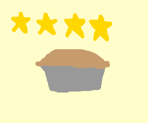 I give this pie 4 stars.