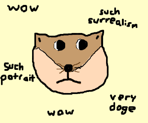 A portrait of Doge. (wow so draw such portrait