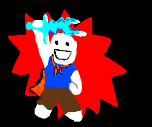Hero holding an Ice Sword