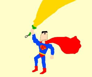Superman's flashlight sword is strongest