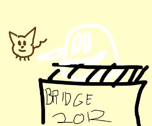 Ghost shoves Black Cat off a bridge