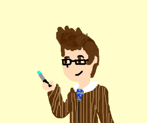 david tennant with sonic screwdriver(doctorwho