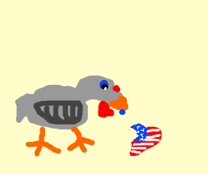 That turkey is eating America's heart ;~;