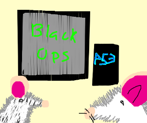 Two mice play Black Ops