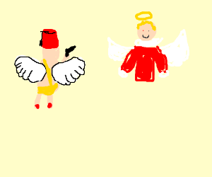 Holiday mashup: Turkey Cupid shoots Xmas angel