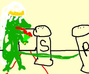 Lizard married to salt has an affair.