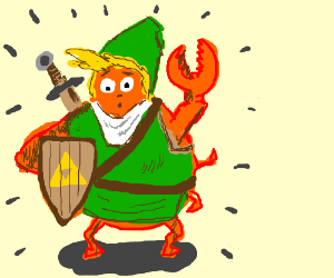 Link is turned into a crab!