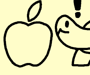 The origin of the Apple logo