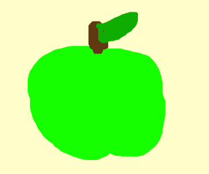 Literally just a green apple.