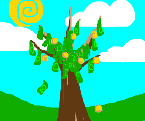 Parents incorrect; money *does* grow on trees!