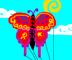 Communist China butterfly kite.