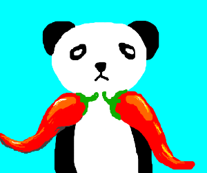 Panda has capsicums for arms