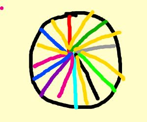 A colourful wheel!
