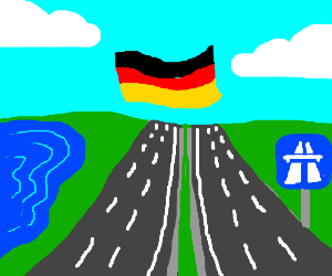 germany is only an autobahn and a lake