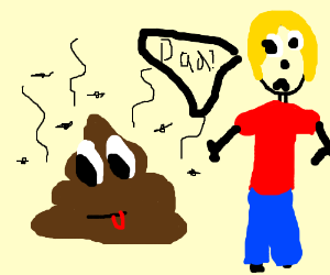 Dad turns into poop