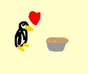 Pixel Penguin Loves Pixel Pie