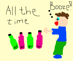 It's booze time all the time!