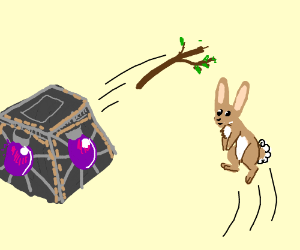 the orb of wisdom throwing stick for rabbit