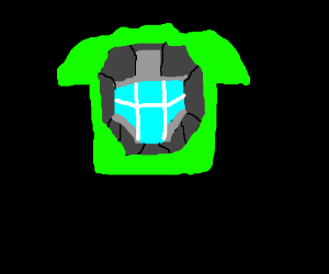 halo ODST green face T-shirt.