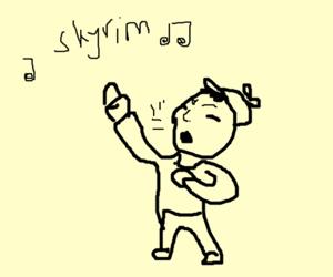 kid singing skyrim