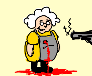 Grandma not concerned by bullet wound