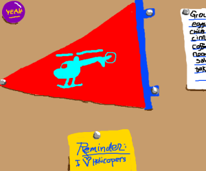 Helicopter pennant.