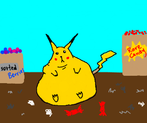 Pikachu is fat