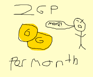 My allowence is only 2 GP o month!