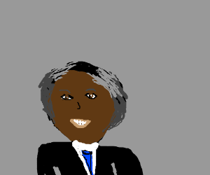 Nelson Mandela smiling very big