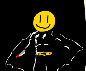 Smiley murdering Batman