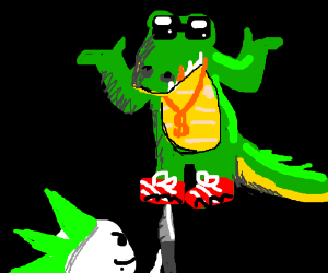 Punk wants to stab Thug Alligator