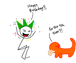 Happy birthday for the 4th time DoodleNewt ;D