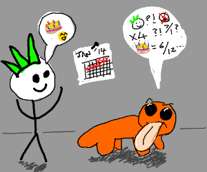 Ignika wishes Doodle Newt Happy Birthday again