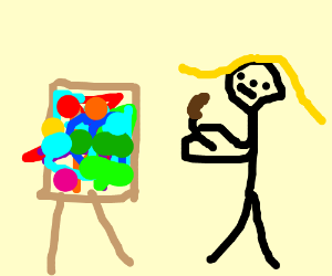 Daria is abstract jelly bean artist