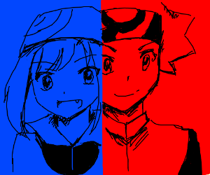 Ruby and Sapphire from Pokemon Special Manga