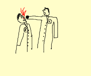11th Doctor punches the 8th doctor