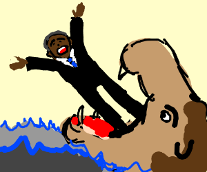 A Hungry Hippo Eats Obama