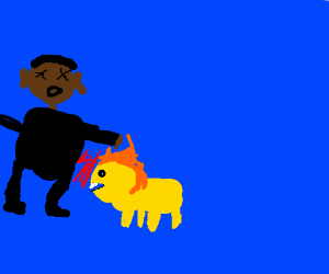 Barack Obama mauled by lion in the ocean