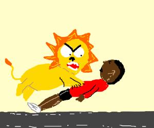 black man gets killed by pet lion
