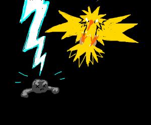 Zapdos murders an innocent rock